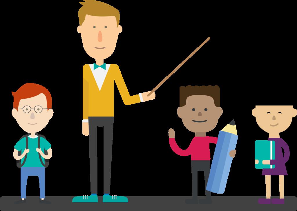 Smart 11+ Tuition teacher and children